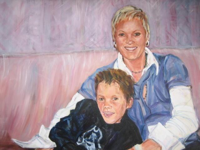 Sandra en Max op de bank  (verkocht)
