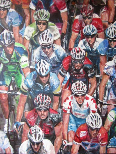 wielrenners aan de start