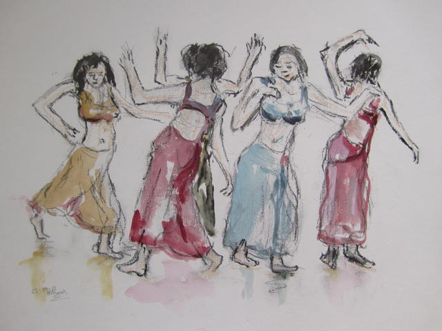 Buikdanseressen  (verkocht)