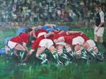 Rugby Scrum (Engeland-Frankrijk)