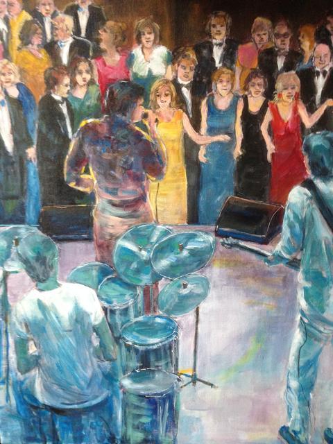 muziek optreden met publiek