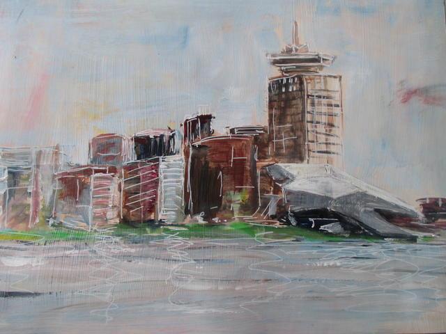 Kunst aan het IJ (Eye en Shell toren)