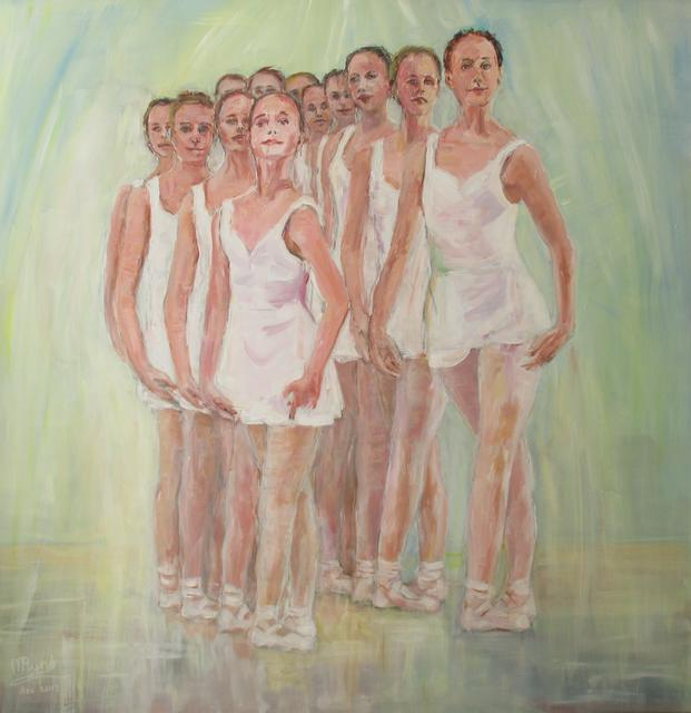 Balletmeisjes 5e positie