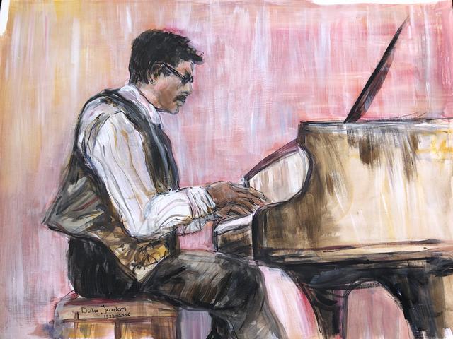 Duke Jordan achter de piano