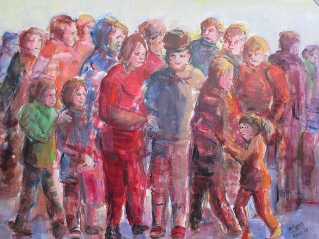 Groep mensen op straat