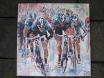 wielrenners sprint (verkocht)