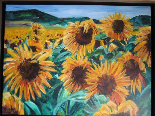 Zonnenbloemen in de Bourgogne 2 (verkocht)