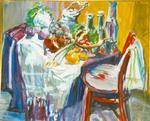 stilleven op tafel met stoel