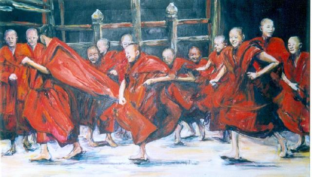 rennende monniken