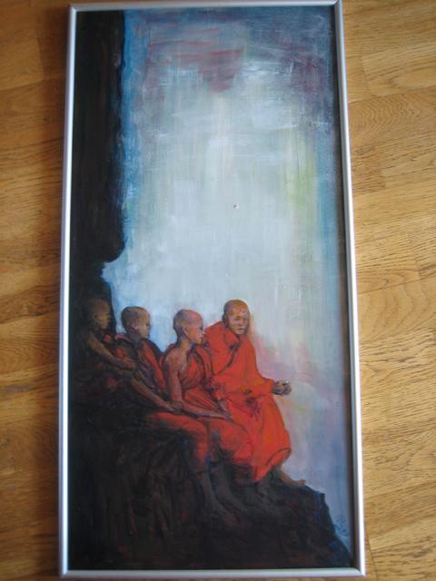 Monniken op de uitkijk (verkocht)
